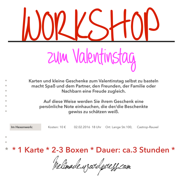 Workshop Valentinstag