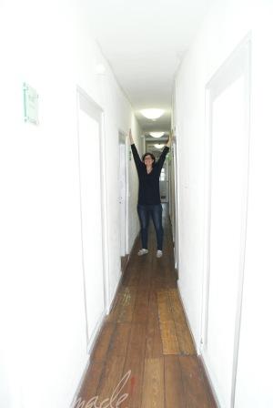 Die Flurgänge zu den Zimmern, wo man sich nicht entgegenkommen darf :-D